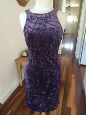 Primo Piano Crushed Velvet Dress - Size 44 (12 AU) New With Tags