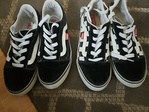 2 Pairs Of Vans Trainers Size 6