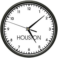 HOUSTON TIME Wall Clock world time zone clock office business
