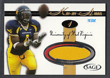 Kay Jay Harris 2005 SAGE Jersey Swatch Proof Card hand numbered 15/25