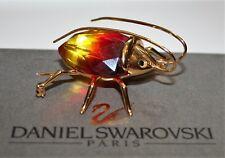 DANIEL SWAROVSKI Paradise Opale de feu Beetle Broche Cristal Insecte Or/Argent 925