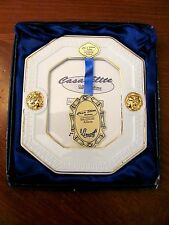 T.LIMOGES CASA ELITE ITALY 'ATHENA' WHITE PORCELAIN GOLD ACCENTS PICTURE FRAME