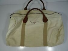 R.M.Williams Canvas & Leather Travel Duffel Bag