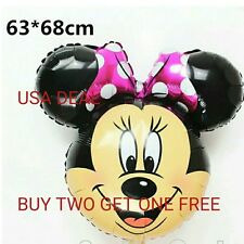 Giant Minnie Mouse Happy Birthday Party Balloons Party Foil pink bowtie