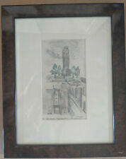 """Original Drawing by Harriet Fielding Whedon """"Coit Tower"""" Signed 1930 Very Good"""