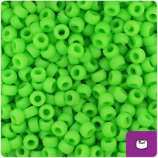 1000 Lime Green Matte 7mm Mini Barrel Plastic Pony Beads Made in the USA