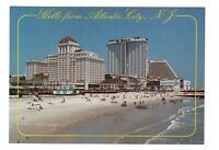 Hello From Atlantic City New Jersey Unused 4x6 Postcard AF44