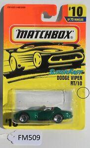 Matchbox Superfast Dodge Viper RT/10 Green #10 FNQHotwheels FM509