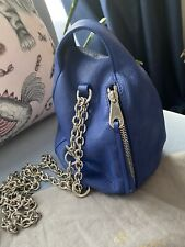 Mulberry Georgia May Jagger Biker Mini Duffle Bag  Electric Blue Leather