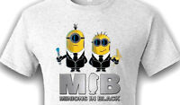 Minions In Black  Mens Funny Parody T-Shirt Tee Despicable me Humor Cool GIFT
