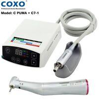 COXO Dental Electric LED Micro Motor 4 Hole 1: 5 Fiber Optic Contra Angle C Puma