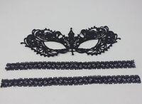 Womens Vintage Elegant Black Lace Eye Face Prom Party Dress Mask Masquerade