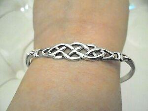 solid silver celtic bangle