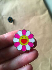 NEW takashi murakami Flower Pink White Pin Brooches Badge kaikai kiki Mini