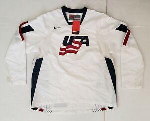 NIKE TEAM USA 2006 WHITE VENTED HOCKEY JERSEY MEN'S SIZE: L