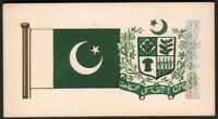 Flag And Standard - Banner For Pakistan c50 Y/O Trade Ad Card