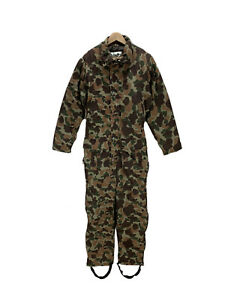 Men's Camo Quilt Lined Hunting Coveralls Medium