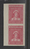 NEWFOUNDLAND  246a imperforate vertical pair VFNH