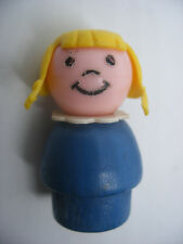Vintage fisher price little people Play Family personnage Bois figure Wood