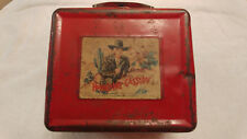 Vintage Red HOPALONG CASSIDY Metal Lunch Box, RARE, 1950s
