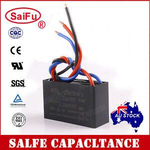 SaiFu CBB61 2.5uF+2.5uF 3 Wires AC 250V 50/60Hz Capacitor for Ceiling Fan OZ