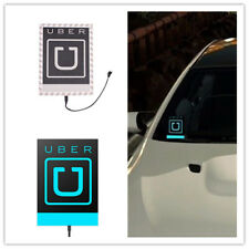 For UBER Light Car LED Sticker Logo Sign TAXI Decal Bright Glowing Blue 12V  NEW