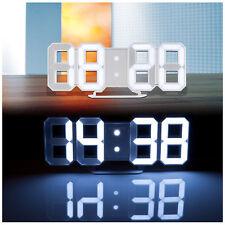 Lunartec Große Digital-LED-Tisch- & Wanduhr, 7 Segmente, dimmbar, Wecker, 21 cm