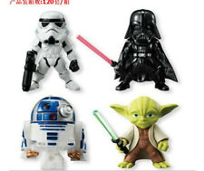 Star Wars (4 pc Set) Cake Toppers Action Figures PVC Collection Darth Vader Yoda