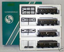 Sachsenmodelle H0 14007, 4-teiliges Wagenset der DRG (W483)