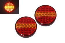 2 x 24V LED Rear Tail Indicator Stop Hamburger Lights Lamps Trailer Truck /088