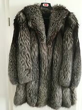 SILBERFUCHS XXXL  PELZMANTEL SILVER FOX FUR COAT ganze Felle UNISEX VP: 3000 €