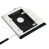 With bezel for HP EliteBook 8560w 8570w 8760w 8770w 2nd HDD SSD Hard Drive Caddy