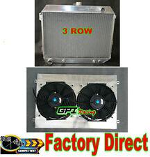 68-73 DODGE CHARGER/CHALLENGER 383-440 V8 3-ROW ALUMINUM radiator +Shroud &Fans