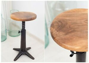 Singer sewing stool with cast iron bases, walnut seat