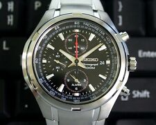 Seiko Chronograph 100m Stainless Steel Men's Watch SNAE41P1
