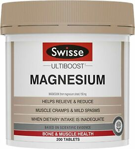 Swisse Ultiboost Magnesium 200 Tablets   NEW   FREE SHIPPING