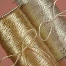 White SATIN CORD with sparkly Silver Metallic Threads ~ 25 feet~2mm RatTail NEW