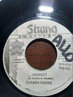 """Shabba Ranks-Respect 7"""" Vinyl Single 1993"""