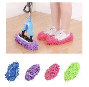Dust Mop Slippers Lazy Floor Polishing Cleaning Socks Shoes Mop Novelty Gifts