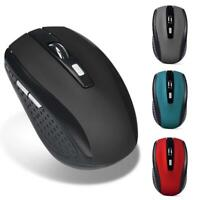 2.4GHz Wireless 2000DPI Cordless Optical PC Laptop Mouse Mice USB Receiver AU