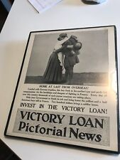"VICTORY LOAN original WW1 POSTER ""HOME AT LAST FROM OVERSEAS!"""