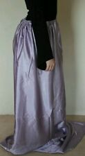 Lilac maxi long custom gothic satin skirt stretchy gorgeous