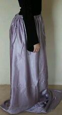 Lilac maxi long custom gothic satin skirt stretchy gorgeous