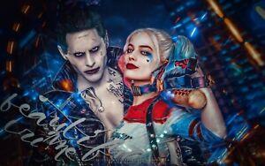 Harley Quinn Joker Suicide Squad Bedroom Wall View Sticker Poster Vinyl 541