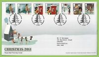 G.B. 2014 Christmas set on Royal Mail First Day Cover, Tallents House