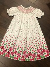 NWOT Smocked Lady bug Dress Size 4
