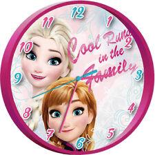 Disney Wanduhr Rund Kinder Uhr Kinderuhr Kinderwanduhr Analog Anna Elsa Frozen