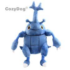 "Scarhino Pokemon Heracross Plush Soft Toy Doll Teddy Stuffed Animal 12"" Figure"