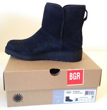 UGG Australia Women's KRISTIN Black Suede Wedge Boots Size 8 M USA