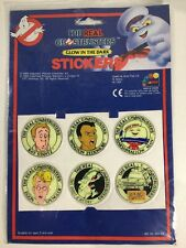 Vintage 1980's The Real Ghostbusters Stickers Glow In The Dark Jotastar Sealed
